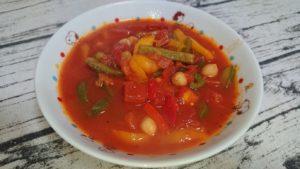 ひよこ豆とパプリカのトマト煮(1人分)