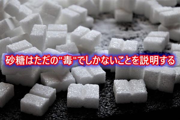 """砂糖はただの""""毒""""でしかないことを説明する"""