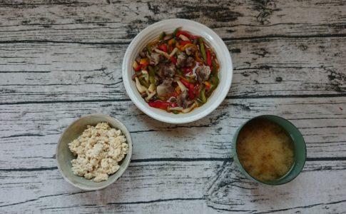 酢豚風野菜炒め定食
