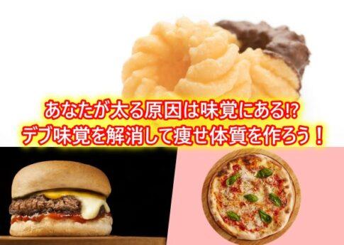 あなたが太る原因は味覚にある!?デブ味覚を解消して痩せ体質を作ろう!